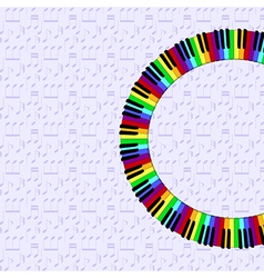 Piano keyboard on dimmed backgorund vector