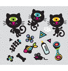 Cat figures vector