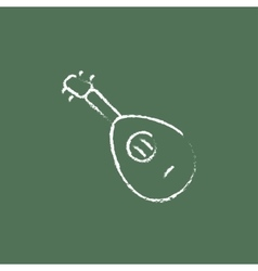 Mandolin icon drawn in chalk vector