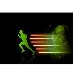 Green athlette vector