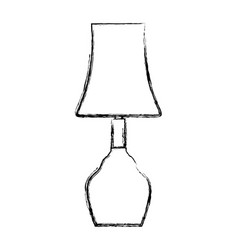 bedside lamp silhouette vector image