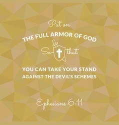 Bible verse from ephesians on polygon background vector