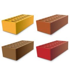 brick set vector image vector image