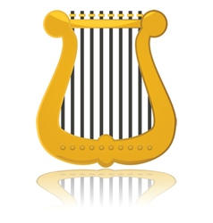 Cartoon harp vector image vector image