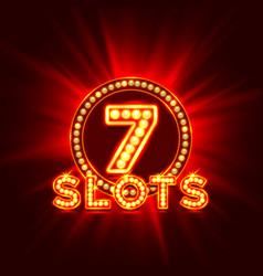 casino slots jackpot 7 signboard vector image