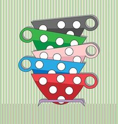Coffee tea cups vector