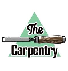 Color vintage carpenter emblem vector