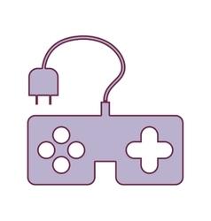 Contour remote control games in light purple color vector