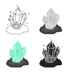 Crystals icon in cartoon style isolated on white vector