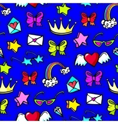 Decorative fashion patch badges vector image vector image