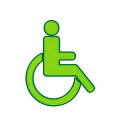 disabled sign lemon scribble vector image vector image