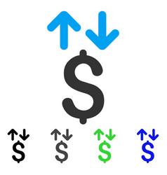 Dollar transactions flat icon vector