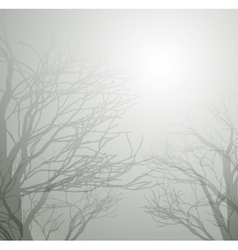Dried trees in the winter vector
