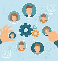 Human resource management vector