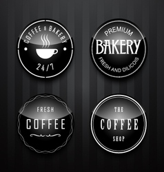 Label set for restaurant and cafe vector image