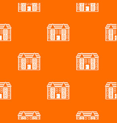 Large two-storey house pattern seamless vector