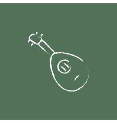 Mandolin icon drawn in chalk vector