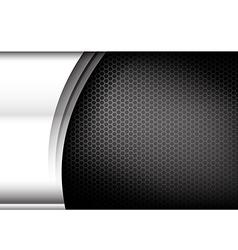 Metallic steel and honeycomb element background vector image vector image