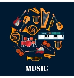 Musical instruments and sound equipment vector
