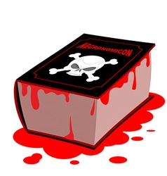 Necronomicon Book of black magic is dead Horrible vector image