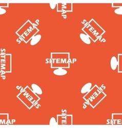 Orange sitemap pattern vector