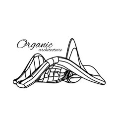 organic architecture the concept of unity with vector image