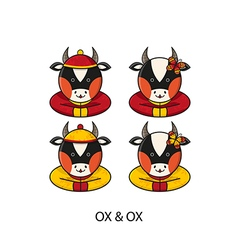 Ox chinese vector