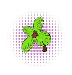 Palm tree icon pop-art style vector image
