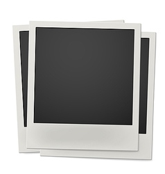 Pile of retro instant photo frames isolated vector image vector image