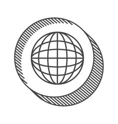 Planet earth icon vector