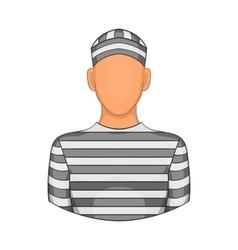 Prisoner icon in cartoon style vector