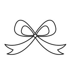 Ribbon decorative frame icon vector