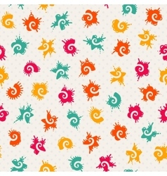 Seamless baby pattern vector