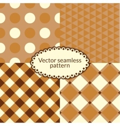 Set simple seamless pattern vector image