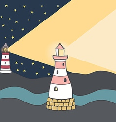 ShipLighthouse10 vector image
