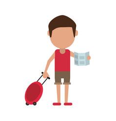 Tourist man avatar vector