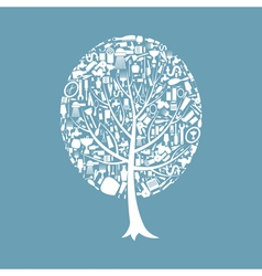 Tree a bath vector image vector image
