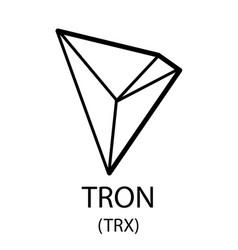 Tron cryptocurrency symbol vector