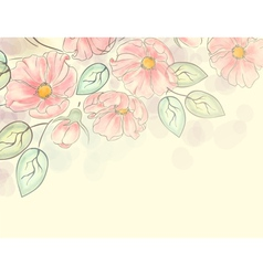 Watercolor floral ornament vector