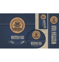 western bar vector image