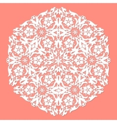 White ace doily vector image