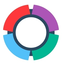 Wide striped circle icon flat style vector