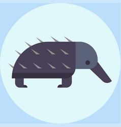 wildlife bristling porcupine vector image