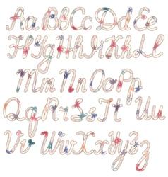 Written vintage alphabet vector image vector image