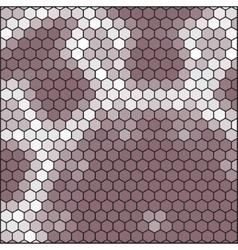 brown gray honeycomb - abstract hexagon grid vector image