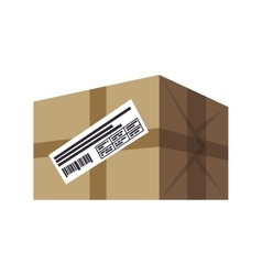 box package delivery shipping logistic security vector image