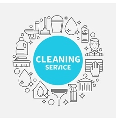 Cleaning service template vector image
