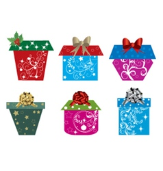 Set of christmas presents vector image