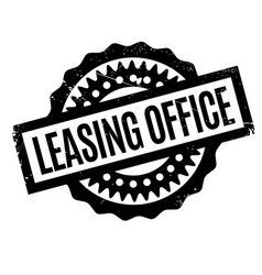 Leasing office rubber stamp vector