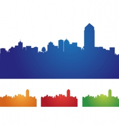 Cityscape four colors vector